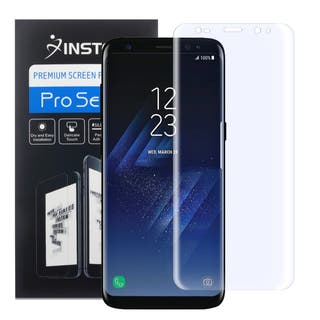 Insten Anti-Scratch Ultra Clear Transparent Screen Protector Film for Samsung Galaxy S8+ S8 Plus|https://ak1.ostkcdn.com/images/products/15943198/P22343269.jpg?impolicy=medium