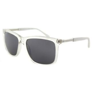 Guess GU 6861 26A Crystal Plastic Square Sunglasses Grey Mirror Lens