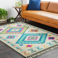The Curated Nomad La Marelle Moroccan Tassel Multi-colored Runner Rug - 2'7 x 7'3