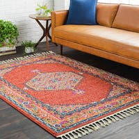Boho Persian Tassel Orange Area Rug (5' x 7'3) - 5' x 7'3""