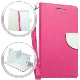 (XL) ZTE ZMax Z970 Wallet Pouch Hot Pink