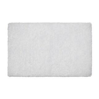 "Vista Living Claudia 30 x 48"" Shag Area Rug (White, Charcoal, Silver) - 2'5"" x 4'"