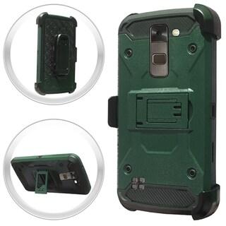 (XL) LG Stylo 2 LS775 HeavyDuty Tactical Combo Army Green