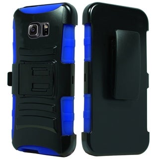 (XL) Samsung Note 5 N920 Hybrid H Stand Holster Dr. Blue