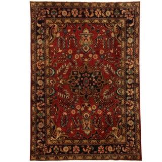Herat Oriental Persian Hand-knotted Hamadan Wool Rug (5'5 x 7'7)