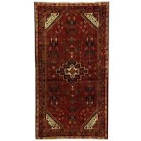 Handmade Herat Oriental Persian Hamadan Wool Rug - 4'7 x 8'5 (Iran)