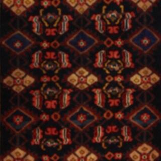 Herat Oriental Persian Hand-knotted Hamadan Wool Rug (3'9 x 8'2)