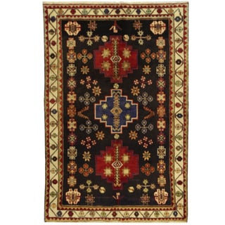 Herat Oriental Persian Hand-knotted Hamadan Wool Rug (4'5 x 6'7)