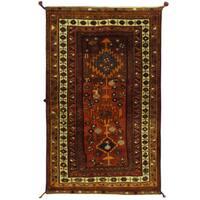 Handmade Herat Oriental Persian Shiraz Wool Rug (Iran) - 4'3 x 6'7