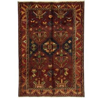 Herat Oriental Persian Hand-knotted Hamadan Wool Rug (5'1 x 7'4)