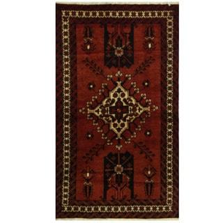 Herat Oriental Persian Hand-knotted Balouchi Wool Rug (3'10 x 6'6)