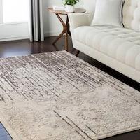 Traditional Modern Grey & Cream Area Rug - 6'6 x 9'6