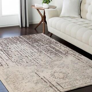 "Traditional Modern Grey & Cream Area Rug - 7'10"" x 10'3"""