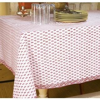 Handmade Classic Handmade Crimson Table Cloth (84 x 70) (India)