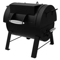 Dyna-Glo DGSS287CB-D Portable Tabletop Charcoal Grill & Side Firebox