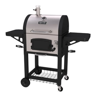 Dyna-Glo Silvertone/Black Steel Heavy-duty Compact Charcoal Grill