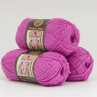 Lion Brand Yarn Modern Baby Pink 924-102 3 Pack Baby Yarn