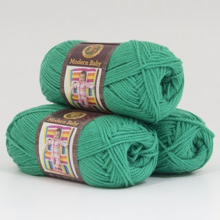 Lion Brand Yarn Modern Baby Green 924-130 3 Pack Baby Yarn