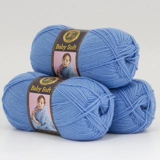 Lion Brand Yarn Baby Soft Bluebell 920-107 3 Pack Baby Yarn