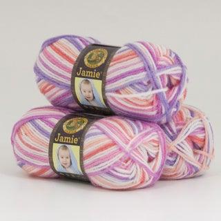 Lion Brand Yarn Jamie Summer Stripes 881-202 3 Pack Baby Yarn