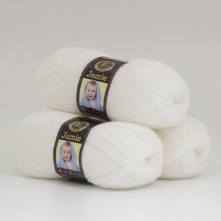 Lion Brand Yarn Jamie Angel White 881-100 3 Pack Baby Yarn