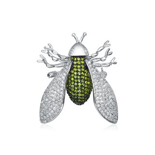 Collette Z Sterling Silver Cubic Zirconia Bug Pin