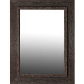 Hobbitholeco Brown 28.25-inch x 36.25-inch Washed Aged Mirror with 20-inch x 28-inch Inner Mirror