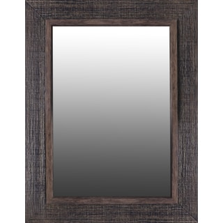 Hobbitholeco Gold Line Brown Wood 28.25 x 36.25-inch Mirror (Inner Mirror 20 inches x 28 inches)