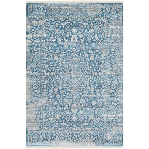 Gracewood Hollow Daninos Vintage Persian Traditional Blue Area Rug