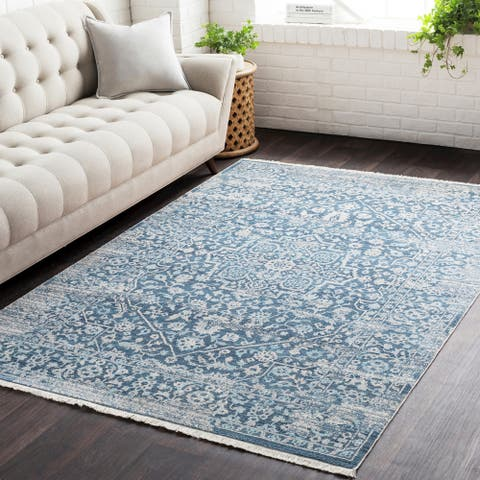 "Gracewood Hollow Daninos Vintage Persian Traditional Blue Area Rug - 8'10"" x 12'10"""