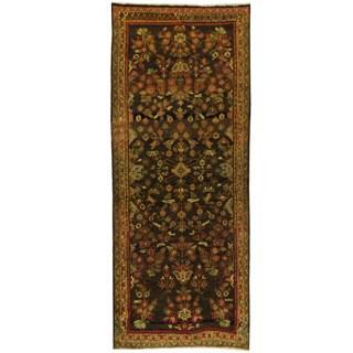 Herat Oriental Persian Hand-knotted Mahal Wool Runner (3'9 x 9'5) - 3'9 x 9'5