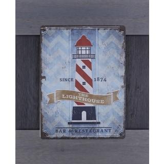'Light House' Metal Wood 19 x 23-inch Artwork