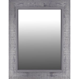 Hobitholeco Grey Crosshatch 28.25-inch x 36.25-inch Mirror (Inner Mirror 20 inches x 28 inches)