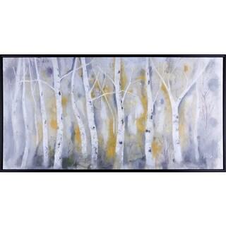 32.25X62.25 Yellow Birch Tree, Framed Acrylic Art