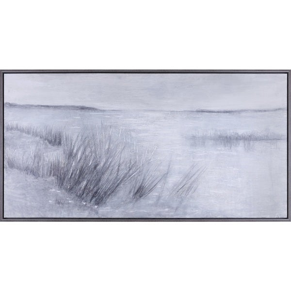32.25X62.25 By the Sea, Acrylic hand painted canvas framed wall art décor, ready to hang.