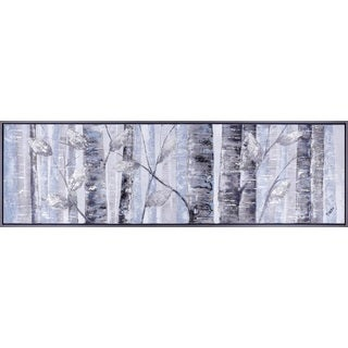 21.25X72.25 Forest Horizontal Acrylic hand painted canvas framed wall art décor, ready to hang.