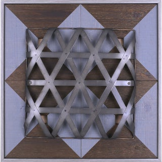 'Metal Shape II' 23.25 x 23.25-inch Metal Wood Artwork