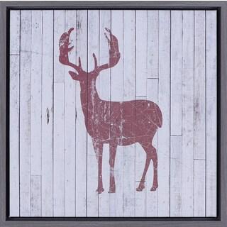 17.5X17.5 Red Deer, Framed Art