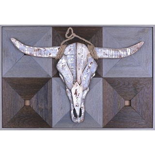 Crosley Furniture 'Bull Head on Wood I' Metal Art