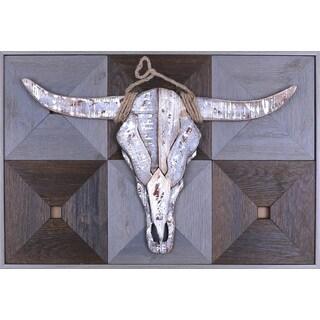 Crosley Furniture 'Bull Head on Wood I' Metal Art