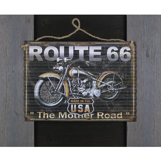 Hobbitholeco 19 x 23-inch Route 66 Metal Art on Wood