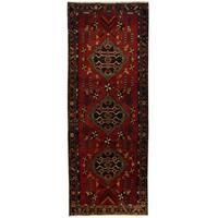 Handmade Herat Oriental Persian Hamadan Wool Runner (Iran) - 3'8 x 9'8