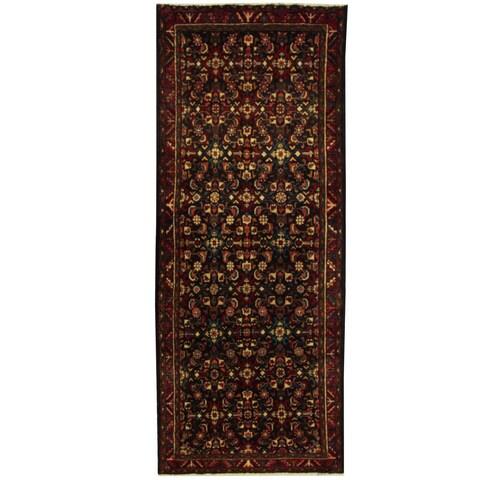 Handmade Herat Oriental Persian Hamadan Wool Runner - 3'11 x 9'8 (Iran)