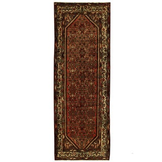 Herat Oriental Persian Hand-knotted Hamadan Wool Runner (3'10 x 10'8)