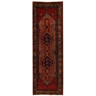 Handmade Herat Oriental Persian Hamadan Wool Runner - 3'5 x 10'4 (Iran)