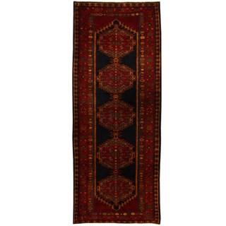 Handmade Herat Oriental Persian Ardabil Wool Runner - 3'10 x 9'6 (Iran)
