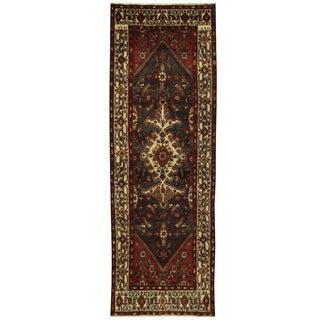 Herat Oriental Persian Hand-knotted Hamadan Wool Runner (3'3 x 9'11)