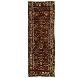 Herat Oriental Persian Hand-knotted Mahal Wool Runner (3'7 x 10'3)
