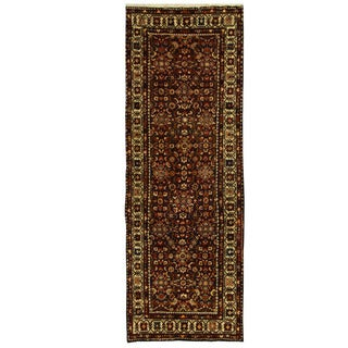 Herat Oriental Persian Hand-knotted Mahal Wool Runner (3'7 x 10'3)