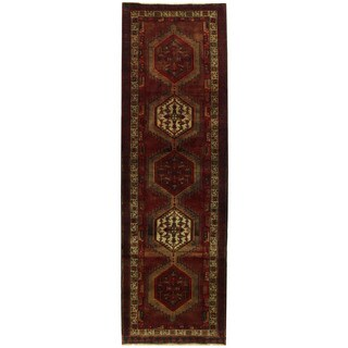 Herat Oriental Persian Hand-knotted Ardabil Wool Runner - 3'6 x 11'6